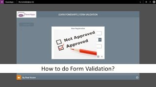 Using PowerApps Rules and Data Validation with the IsMatch