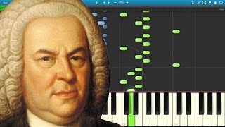 J.S. Bach Prelude 21 (Well Tempered Klavier) Synthesia