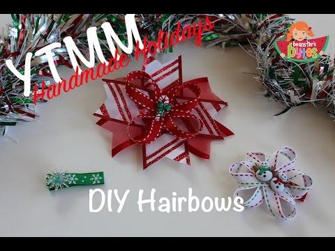 YTMM Homemade Holidays - DIY Christmas Hair Bows