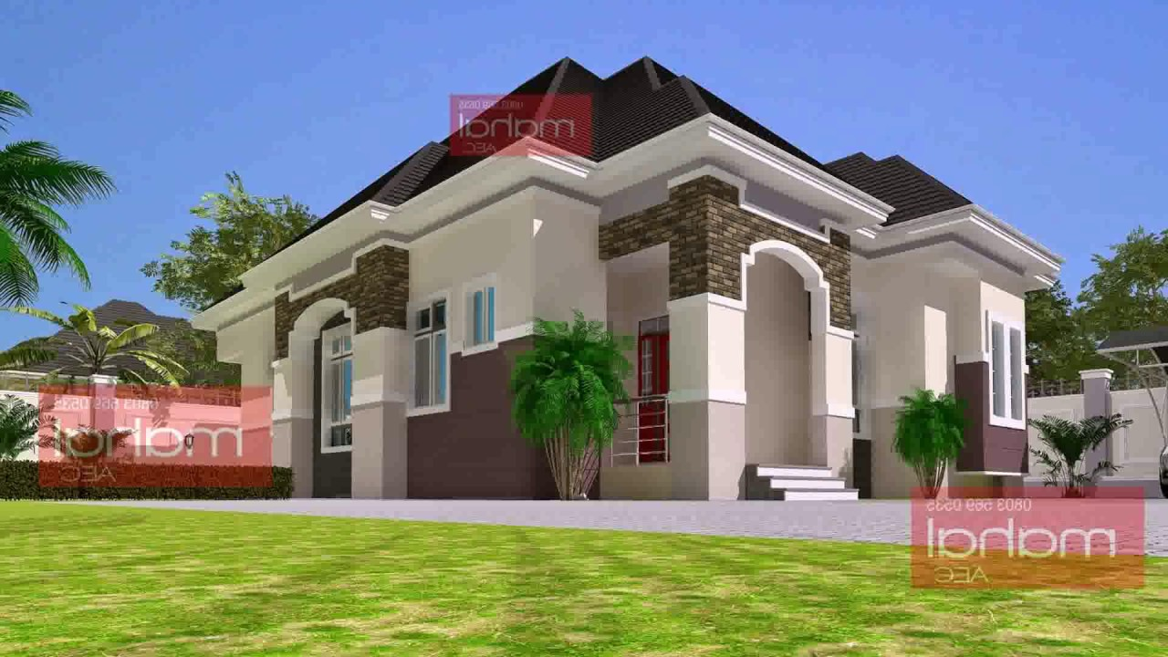5 bedroom bungalow house plans in nigeria youtube for 5 bedroom bungalow house plans