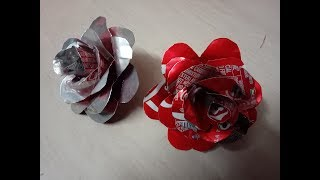 DIY: How to make rose flower using coke can bottle -best out of waste craft