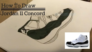 How To Draw The Jordan 11 Concord- Episode #12