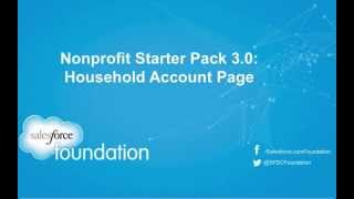 Nonprofit Starter Pack 3.0 Household Account Page