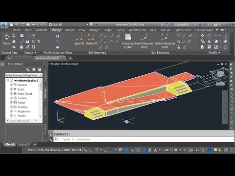 Converting wireframe geometry into a Civil 3D solid model - Part 2