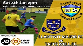 Llantwit Major FC v Taffs Well FC - 04/01/2020
