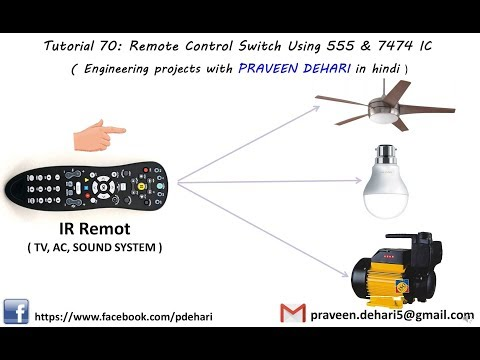Remote contro circuit with 4017 ic YouTube Tech in 2019 Remote