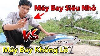 Lâm Vlog - Thử Chơi và So Sánh Máy Bay Siêu Nhỏ vs Máy Bay Khổng Lồ Điều Khiển Từ Xa