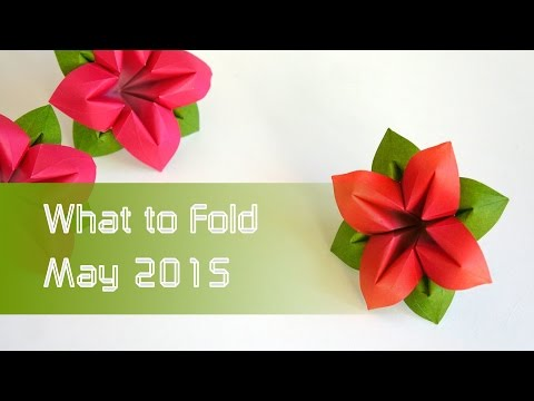 Mother's Day: Flower Origami Recommendations: What to Fold May 2015