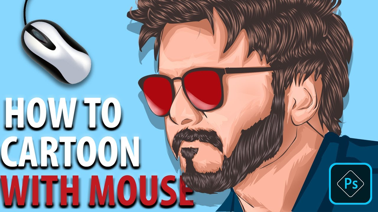 How To Cartoon Yourself Adobe Photoshop Tutorial Mouse And Pentool Only Part 1 Dieno Digital Marketing Services