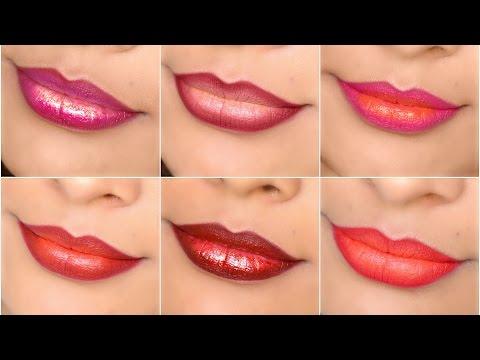 6 Unique OMBRE Lipsticks - Indian Skintone   ShrutiArjunAnand