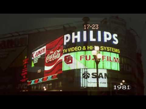 Piccadilly Circus time travel 1900-2009 (HD)
