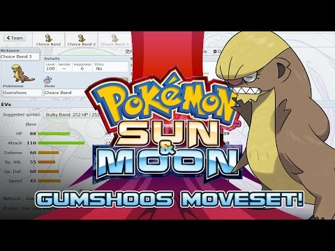 Gumshoos Moveset Guide! How to use Gumshoos! Pokemon Sun and Moon! w/ PokeaimMD!