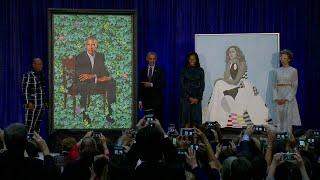 Obama portraits unveiled