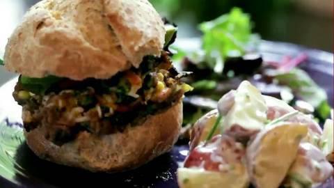 DIY BBQ Part 2: Homemade Veggie Burgers & Potato Salad