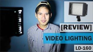 LD-160 HD-160 LED Video Lighting Studio Lamp Lampu Studio Foto BONUS Gorilla Pod