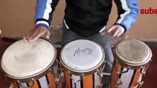 (How to play congo) (Congo western beats on प्रकार) (Basic)