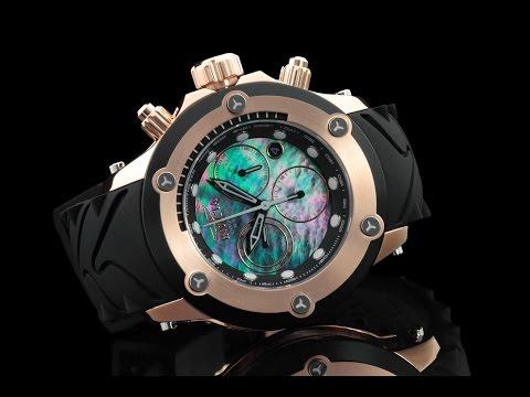 Invicta 23932 52mm Specialty Subaqua Chronograph Strap Watch w Elevated Bezel & Carbon Fiber