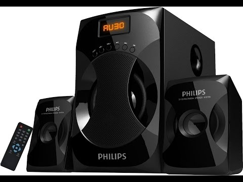 Philips 2.1 Multimedia Speaker System Explode MMS4040F/94 Bass Volume quality testing