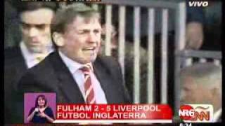 Liverpool goleó 2 x 5 en Fulham