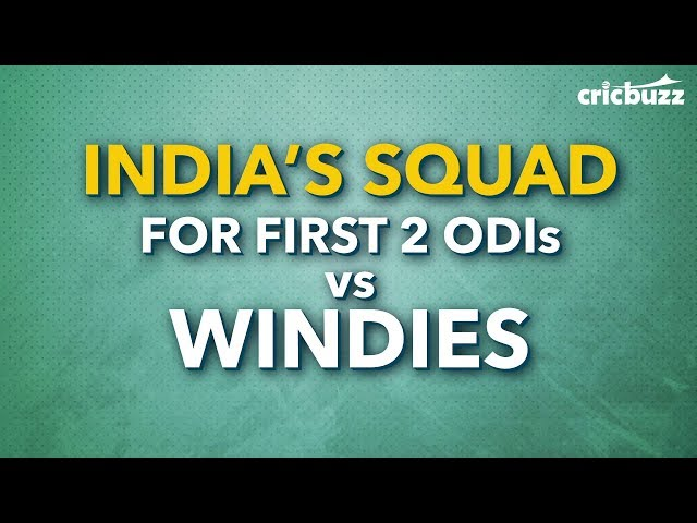 Kohli returns, Pant earns his maiden call-up as DK misses out for the first 2 ODIs vs Windies