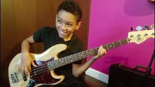 "WBMusicLessons - Bass - [LEVEL 2] - Daniel playing ""Let it Rain"""