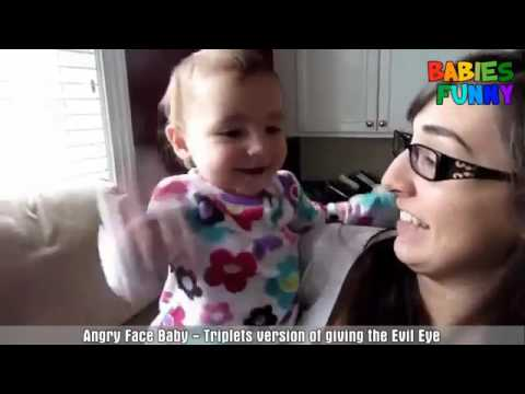 Cute Angry Baby Try Not To Laugh Funny Babiess