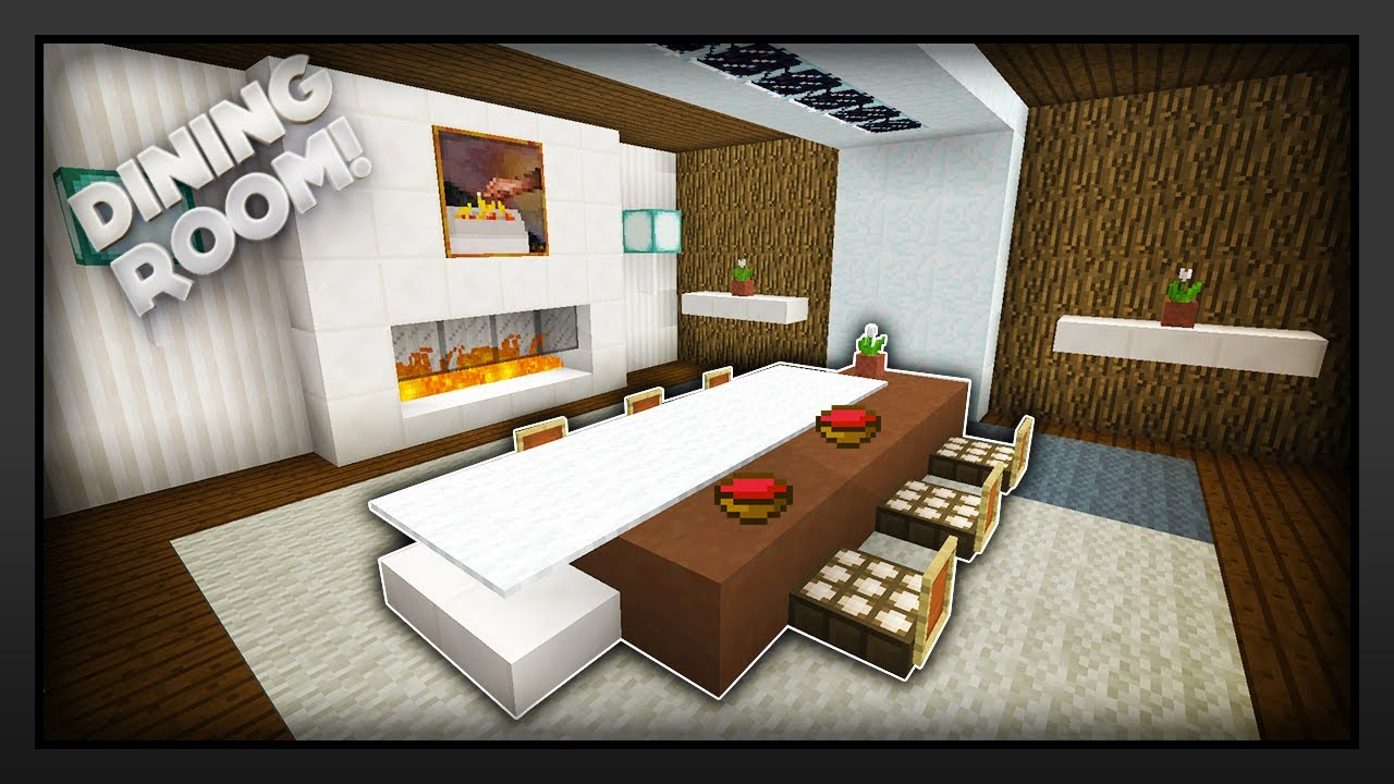 Minecraft how to make a dining room youtube for Minecraft dining room designs