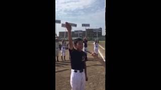 2016東総地区少年野球連盟新人戦選手宣誓 高神スポーツ少年団 磯部 琉晴君.