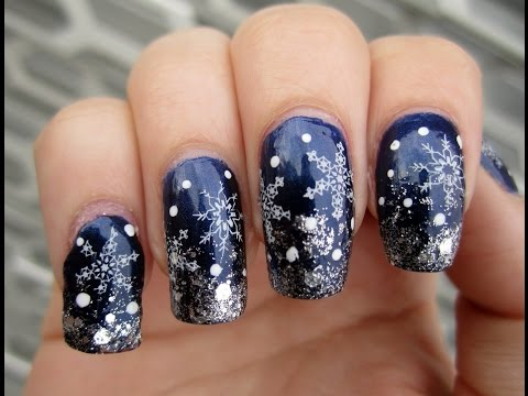 красивый дизайн новогодний ногтей фото
