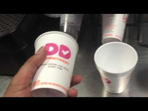 How to make a coffee at dunkin donuts training 101 by professional