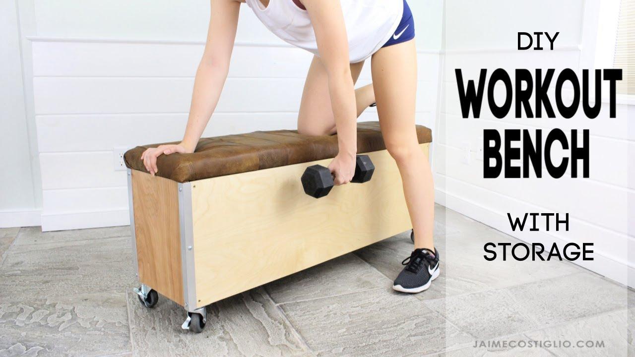 Diy Workout Bench With Storage Jaime Costiglio