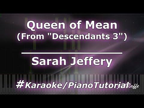 Sarah Jeffery - Queen of Mean From Descendants 3 KaraokePianoTutorialInstrumental