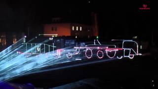 Mapping laserowy Parada Parowozów Wolsztyn 2015 MEDIAM EVENT