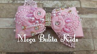 Laço usando peças que você tem em casa por Janaína Gonçalves Moça Bulita Kids