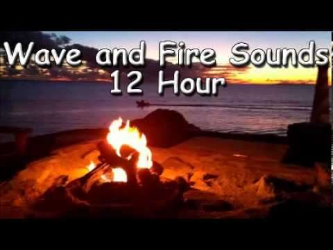 SLEEP SOUND With the ocean and fire sound   12 hour of sea sounds relax meditation zen music