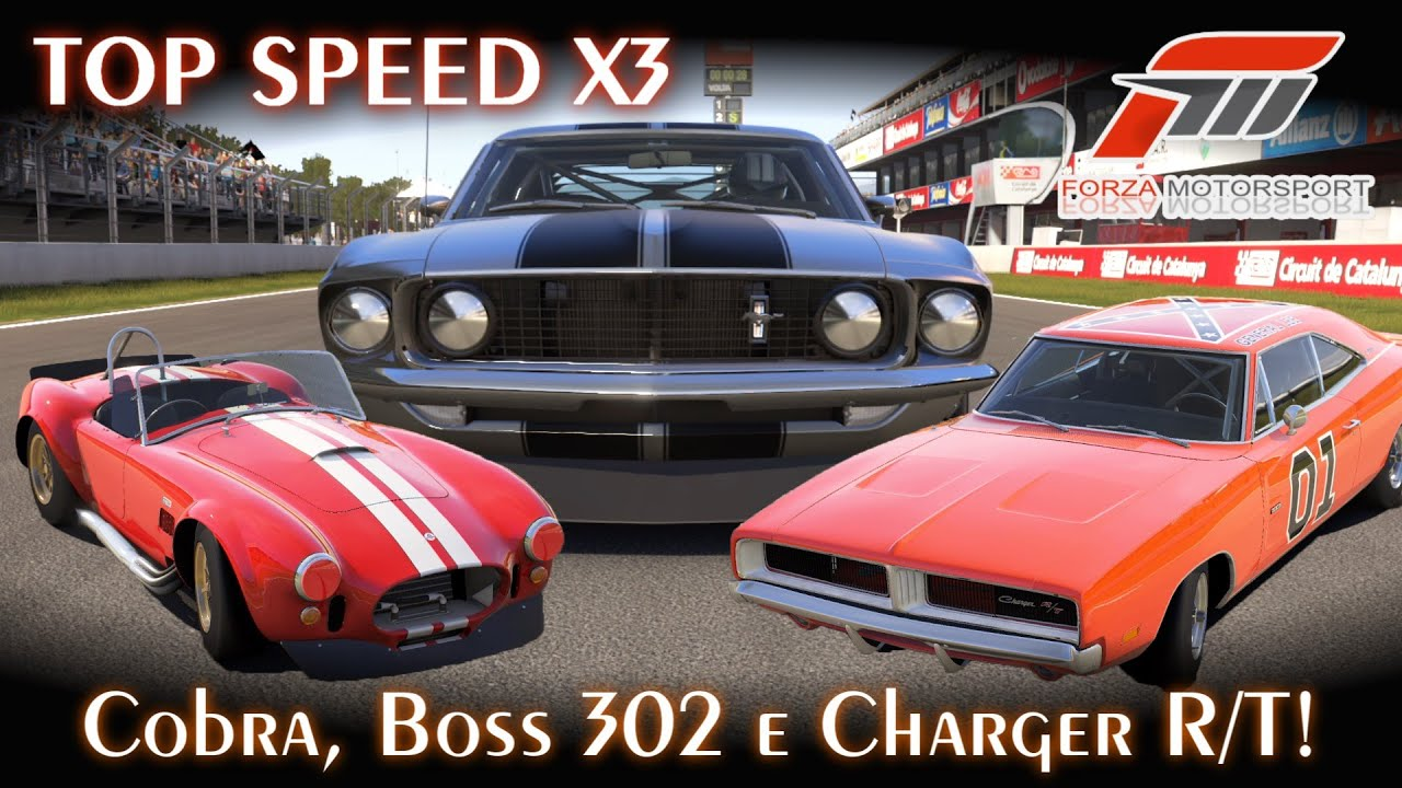 Top Speed X3: Shelby Cobra, Mustang Boss 302 e Charger R/T! - FINAL ...
