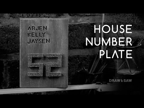 House Number Plate DIY