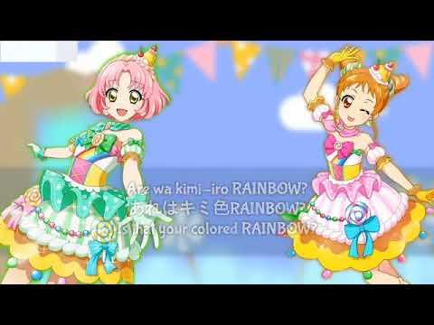 Aikatsu!! Chu chu rainbow   Lyrics  Sakura and Otome