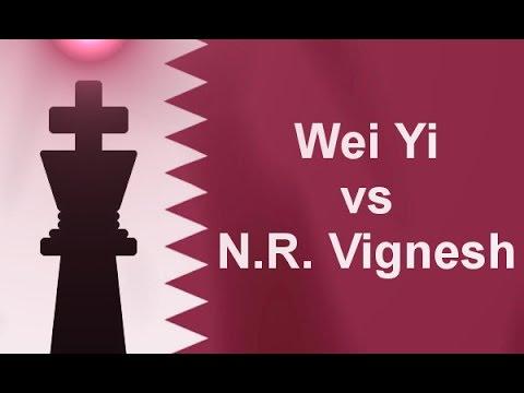 Wei Yi vs N.R. Vignesh - Qatar Masters Open 2015