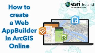 How to create a Web AppBuilder in ArcGIS Online
