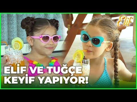 Tuğçe Ve Elif, Havuz Başında Keyif Yapıyor  - Elif Dizisi 201. Bölüm