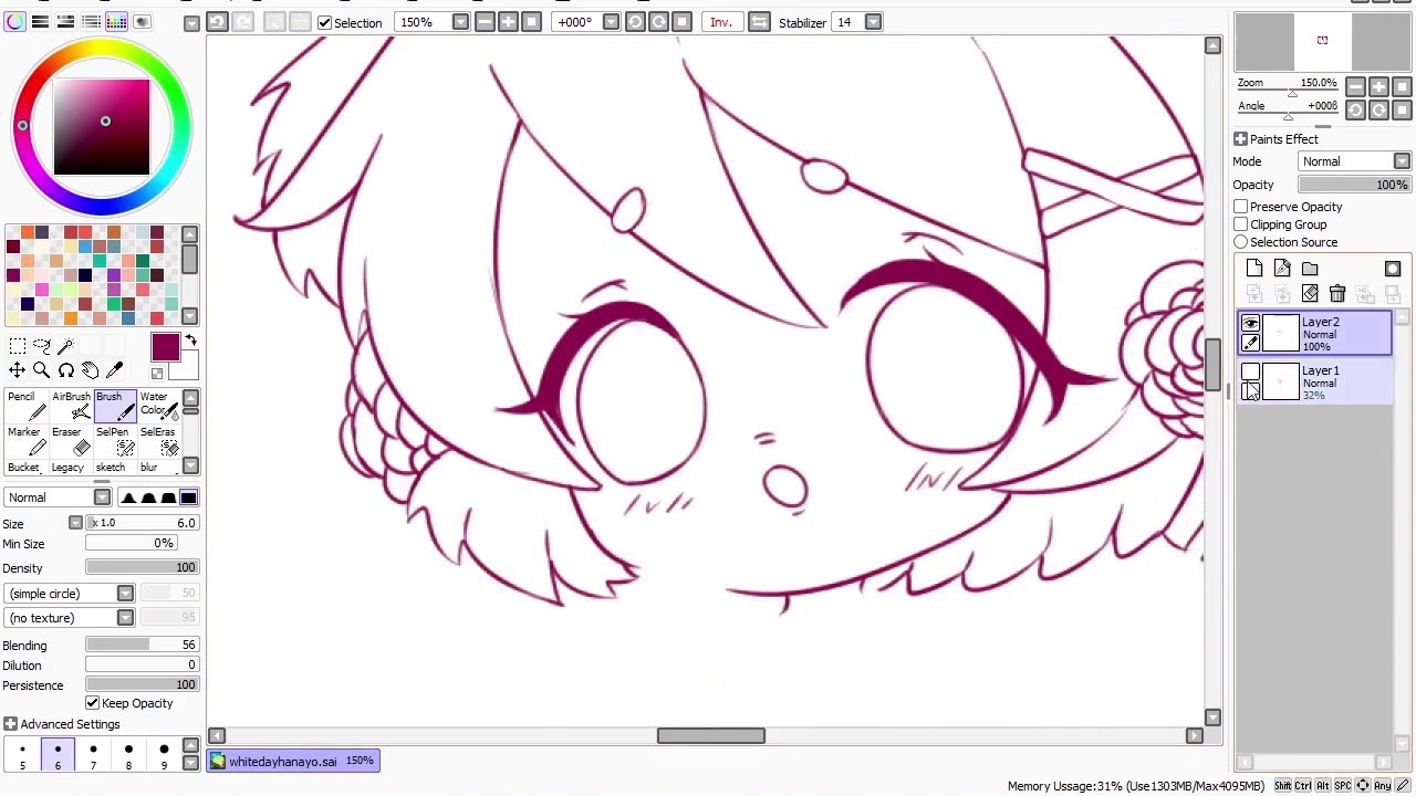 Sai Lineart : Paint tool sai lineart tutorial youtube