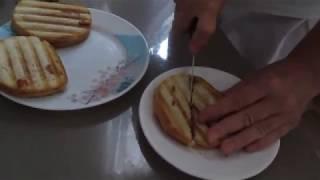 Быстрое приготовление горячих бутербродов в электрогриле Kitfort 1602