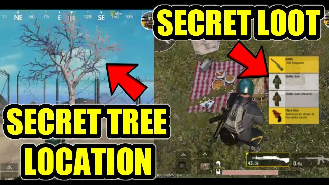 PUBG Mobile Secret Tree Locations / Secret Loot & Music / 0.12 Update New Feature