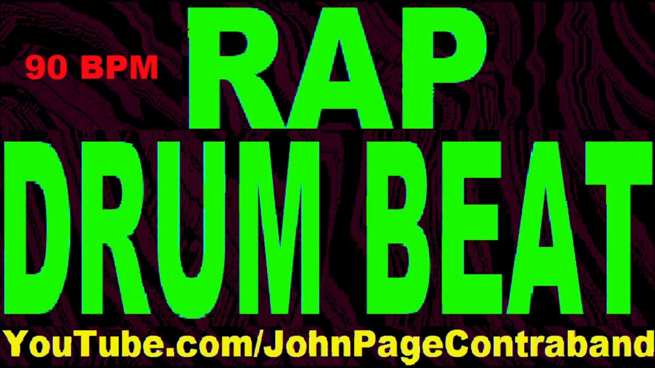 DRUMS ONLY Rap Hip Hop Drum Beat Track 90 bpm 808 Bass
