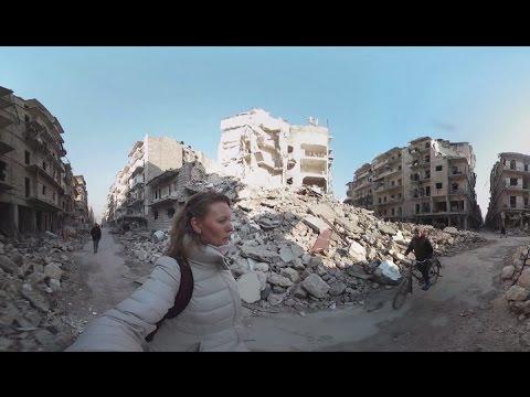 'Surreal, cinematic in a bad way': Aleppo streets 360