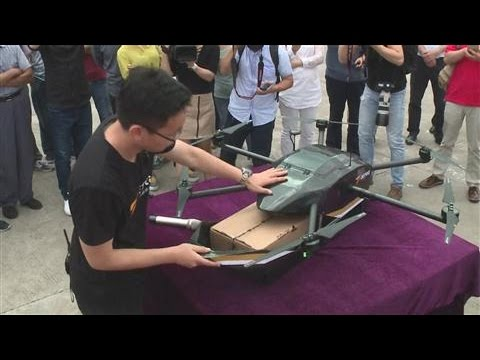 China Mail Drone Makes First Delivery