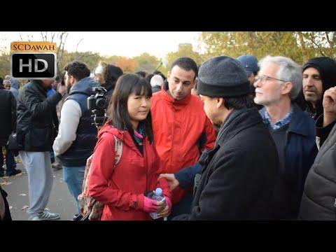 Christian pulls woman away! Mansur Vs Christian | Speakers Corner | Hyde Park