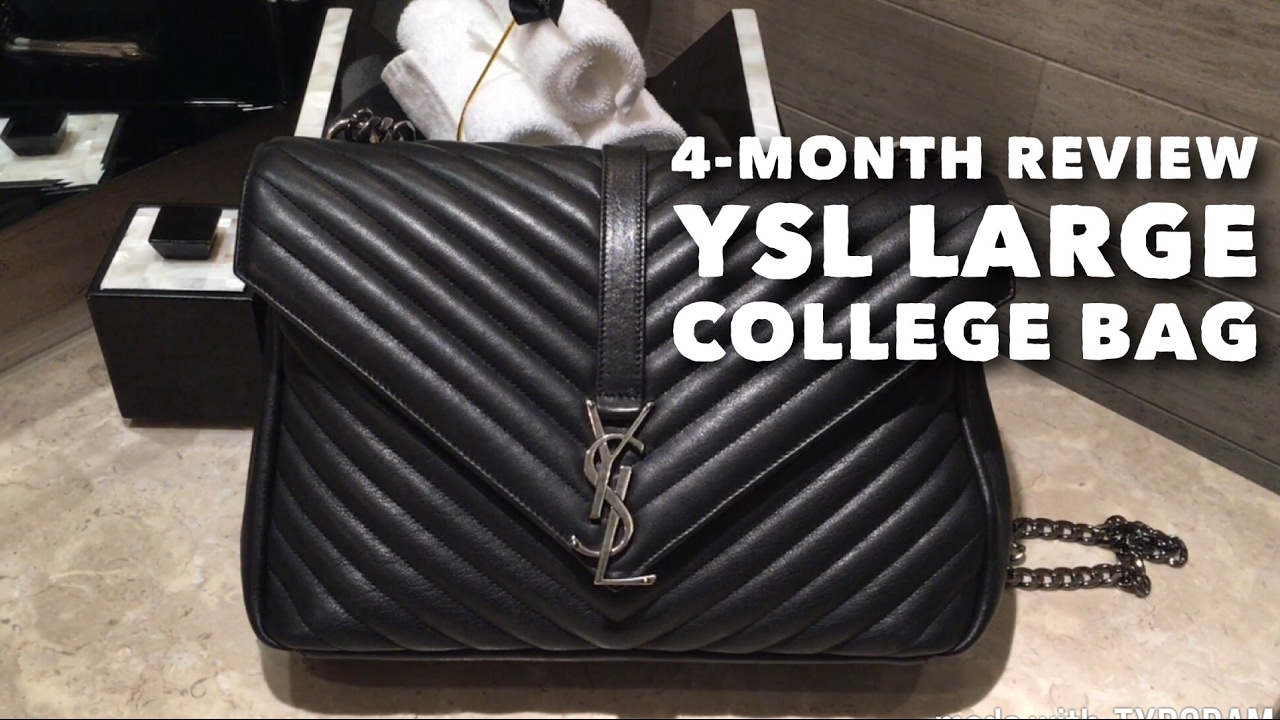 1654fef864 4-month Review    YSL Large College Bag    What s in my bag - YouTube