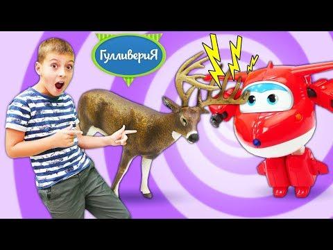 Веселые игры для детей. Животные Коллекта обитатели леса. Видео про игрушки для детей.